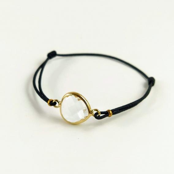 Pulserita de mujer brazalete de moda original ajustable de cristal brillante trasparente moderno