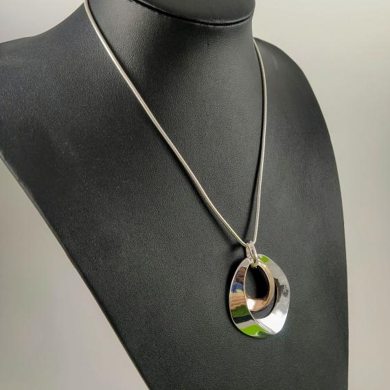 Collar de moda para mujer de moda color plata Vintage Calabrote Moderno