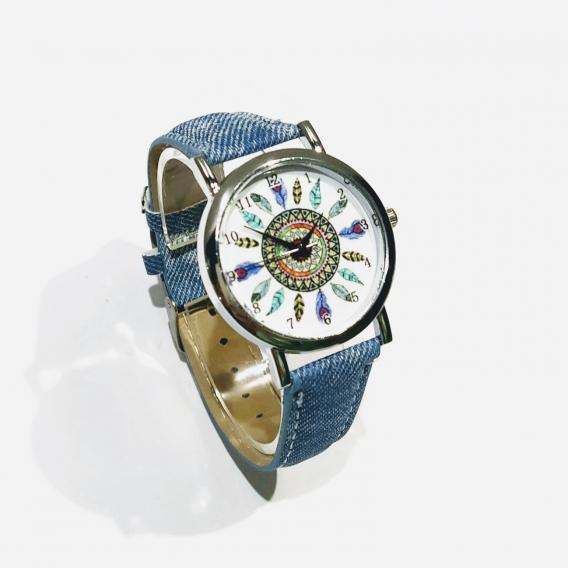 Reloj para mujer estilo vaquero de plumas bisuteria de moda
