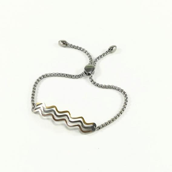 Pulsera tres oros de acero para mujer regalo moderno antialergia