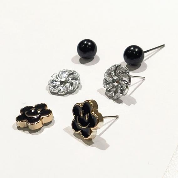 3 par pack de Pendientes mujer borla de cristal bohemios encanto de moda boda femenina nupcial con piedras
