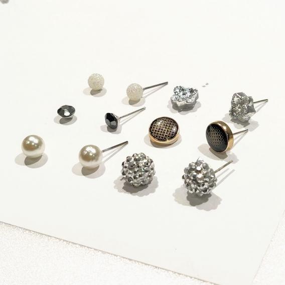 Conjunto 6 pares set de aretes con borlas y perlas para mujer joyería de moda Bohemia 2020 pendientes de aro