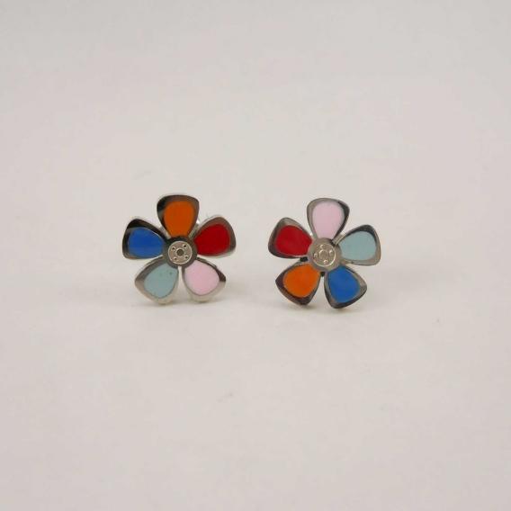 Pendientes para mujer de moda originales colores De flores margaritas de colores plateados acero