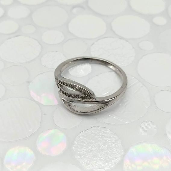 Anillo para mujer, joyería de moda diseño original, color plata.