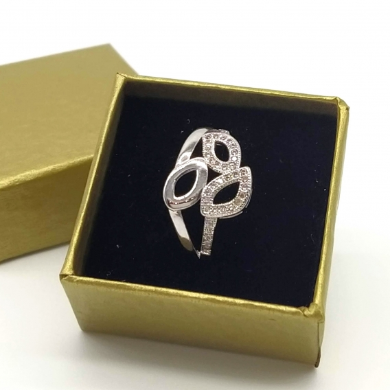 Anillo para mujer, joyería de moda un regalo original, color plata.