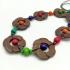 Collar largo para mujer de madera, de colores hawaiano ajustable . Diseño creativo para regalar.
