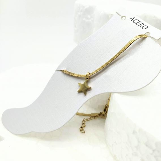 Tobillera de moda original color oro para mujer de acero inoxidable tobillo pulsera