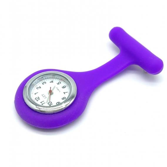 Reloj para enfermera medico bata limpieza con broche y dibujos de silicona