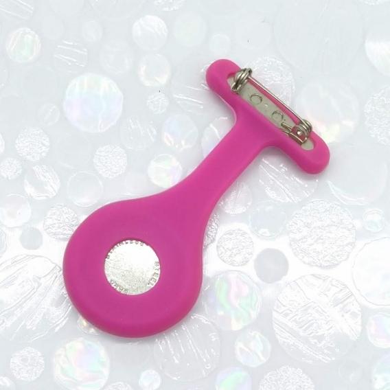 Relojes de medico con broche cierre imperdible de silicona enfermera colores y dibujos, rosa claro