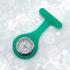 Reloj de imperdible de bolsillo para bata enfermera o medico de silicona de color divertido