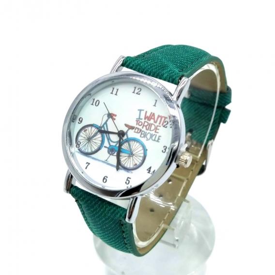Reloj analógico 2020 para mujer de bicicleta verde, un regalo original.