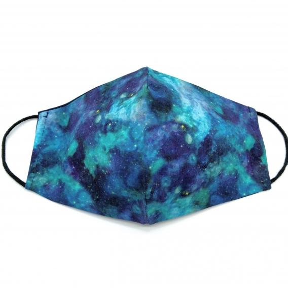 Mascarilla para adulto reutilizable facial de tela diseño divertido, lavable con apertura para filtro.