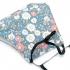 Mascarilla para adulto reutilizable facial de tela diseño divertido de flores, lavable con apertura para filtro.