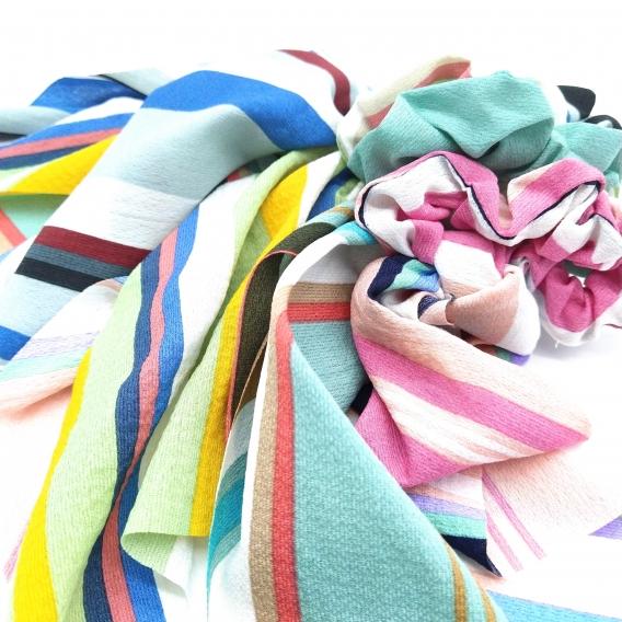 Coletero de pañuelo para mujer o niña, accesorio para el pelo.