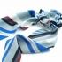 Coletero pañuelo para mujer un accesorio de pelo, color azul-negro a rañas.