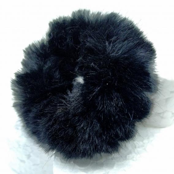 Goma de peluche color negro para mujer,pack 2 unidades. , accesorio de moda.