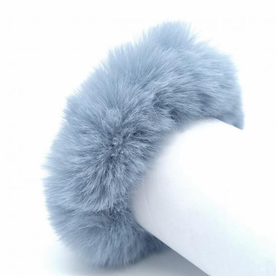 Coletero de peluche azul, moda para regalo.