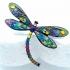 Broche esmaltado con forma de libélula de multicolores un diseño original para mujer.