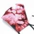 Mascarilla de adulto roja y negra con alambre para la nariz, reutilizable de tela con apertura de filtro.