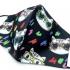 Mascarilla para niño y niña, infantil de tela negra con estampado de gatos, reutilizable, facial y con apertura para filtro.
