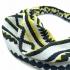 Diadema para el pelo de mujer, moda hippie, de color blanco, negro y amarillo.