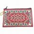Monedero bolsa moda mujer cremallera patrones orientales india étnica turca tela roja