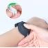 Pulsera de silicona para adulto y niño de color morado, pulsera de gel, dispensador de desinfectante.