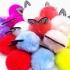 Goma de pelo color fucsia pack de 2X elastica pompom peluche
