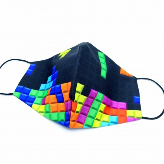 Mascarilla de juego Tetris, tela para filtro