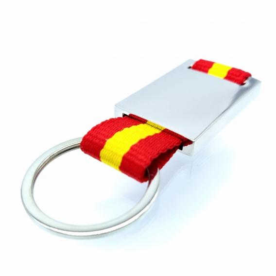 Bandera de España en llavero pequeño para coche