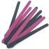 Limas de uñas negras y rosas para mujer pack x10 unidades