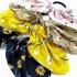Pack de 4 gomas con lazos de colores para el pelo de mujer o niña