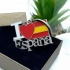 Llavero con mensaje I love España con bandera