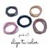 Gomas de pelo originales de cuerdas en diferentes colores a elegir para mujer y niña. Pack x3
