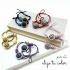 Coleteros para mujer con abalorios en diferentes colores. Pack x2
