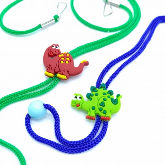 Cordón dinosaurios para mascarilla infantil, 2 unid variables