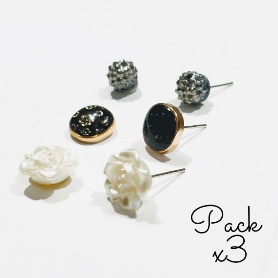 3 par pack de Pendientes mujer de gota colgantes de oreja moderna joyería femenina