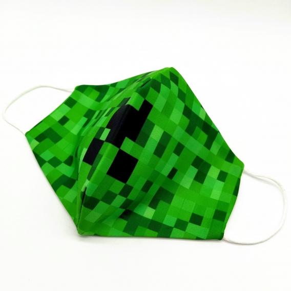 Mascarilla minecraft color verde unisex para filtros