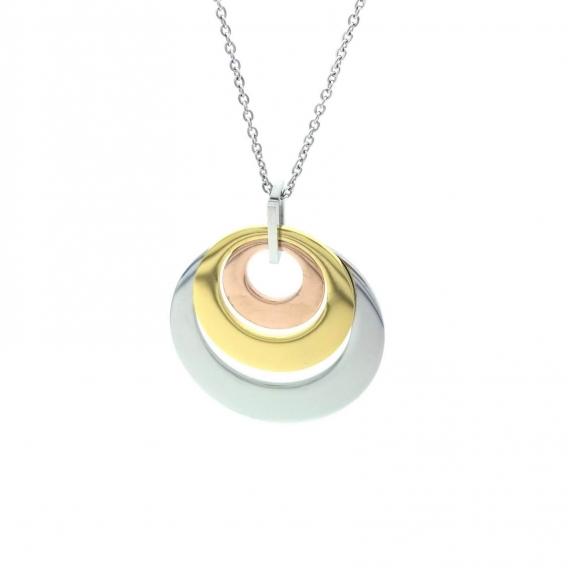 Colgante tres oro de moda de acero para mujer vintage retro moderno regalo cumpleaños fino elegante fashion
