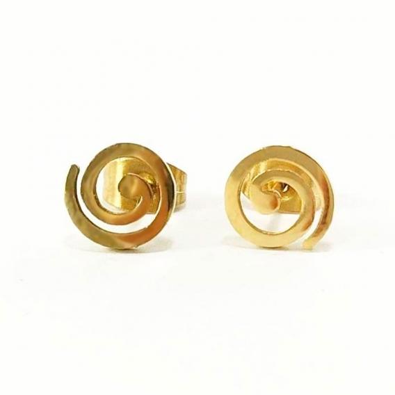 Pendientes zarzillo de acero dorados de moda original, estilo retro, hippie y punk