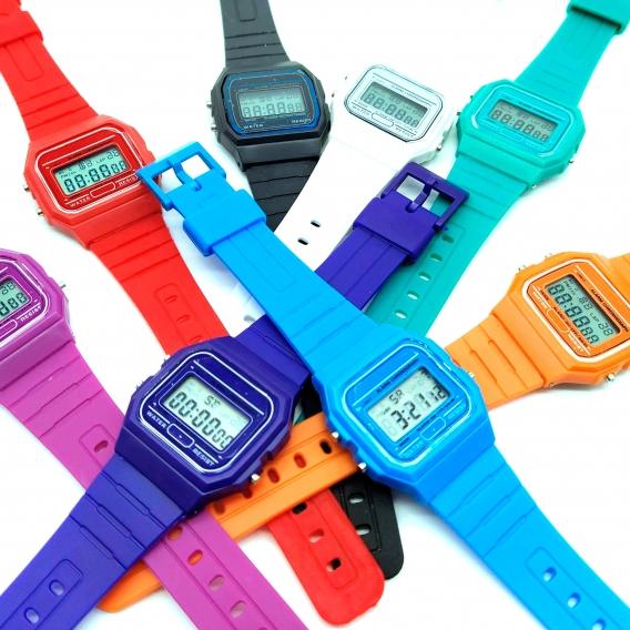 Reloj clásico Casiopea Original para mujer, niña o niño de pulsera digital con alarma. Un regalo vintage.