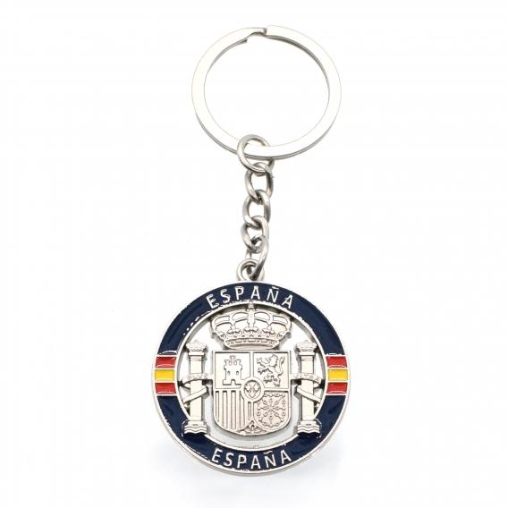 Llavero de escudo de España azul y bandera para llaves hombre regalos coche marca