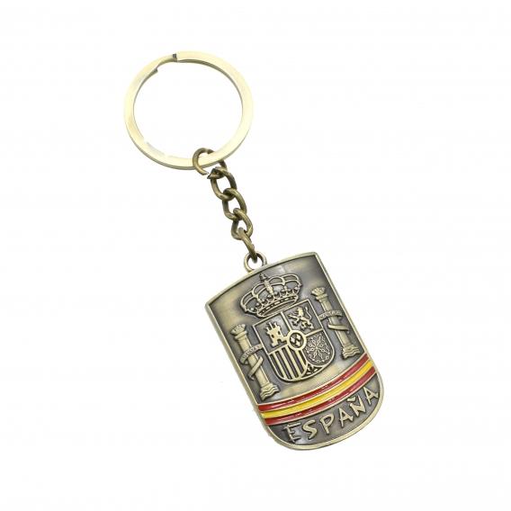 Llavero para llaves con escudo y bandera de España