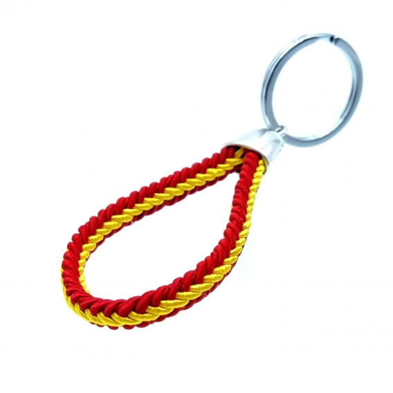 Llavero cordón de bandera de España