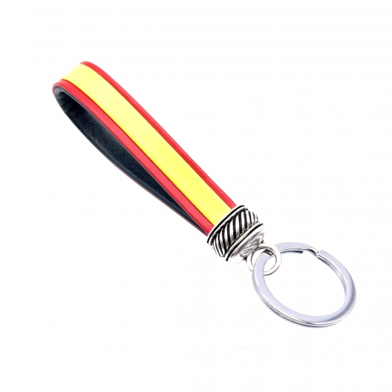 Llavero de cinta española colores bandera para coche