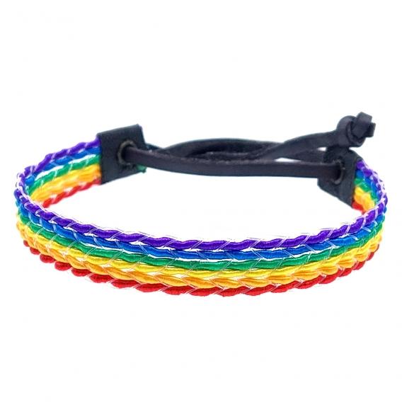 Pulsera orgullo gay, lgtbiq y el arco iris