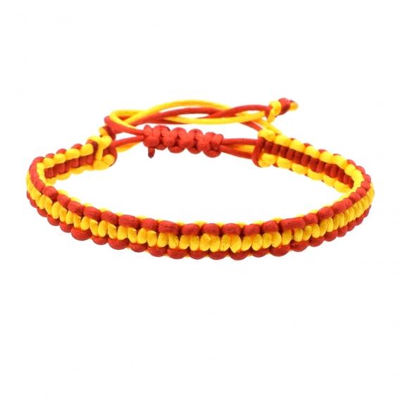 Pulsera de España de cordón con cierre ajustable