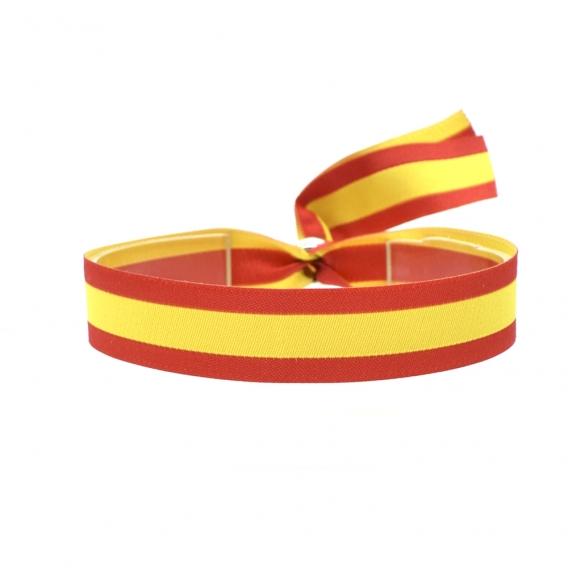 Pulsera bandera de España para hombre y mujer, de hilo con cierre.