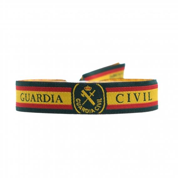 Pulsera Guardia Civil de tela con cierre deslizante para hombre y mujer. Elige cantidad