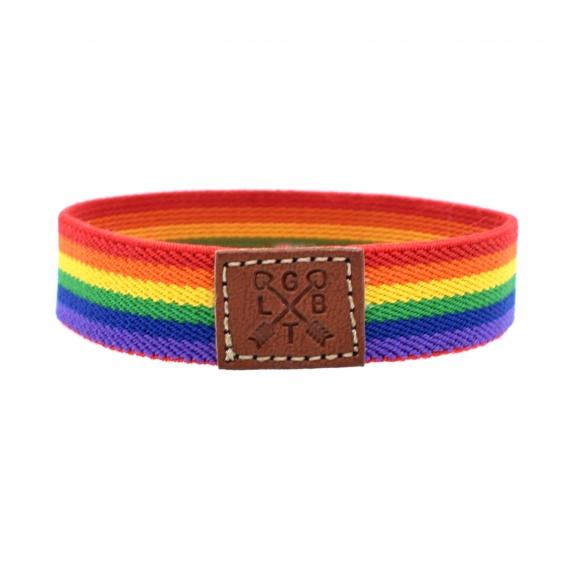 Pulsera elástica LGTBI, de tela con el arcoíris , orgullo Gay, transexual, lesbianas.